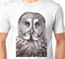 Marley the Great Grey Owl Unisex T-Shirt