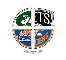 New York Pro Sports TETRAlogy! Mets, Jets, Nets and Islanders by Sochi