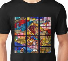 Stained Glass Nativity Unisex T-Shirt