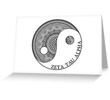ying-yang-zta Greeting Card