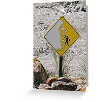 0046 Avalanche Danger Greeting Card