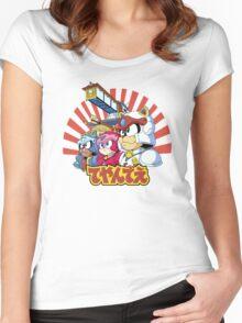 Samurai Pizza Caaaats! Women's Fitted Scoop T-Shirt