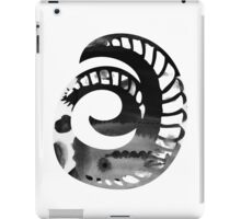 Alphabet Letter O Abstract Watercolour white iPad Case/Skin
