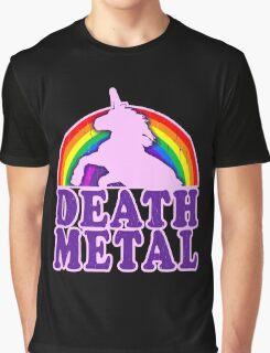 FUNNY DEATH METAL UNICORN RAINBOW Graphic T-Shirt