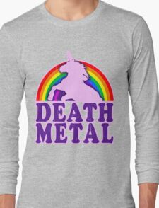 FUNNY DEATH METAL UNICORN RAINBOW Long Sleeve T-Shirt