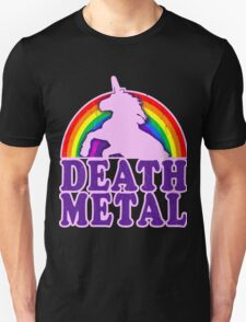FUNNY DEATH METAL UNICORN RAINBOW Unisex T-Shirt