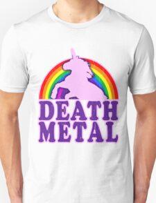 FUNNY DEATH METAL UNICORN RAINBOW Unisex T-Shirt