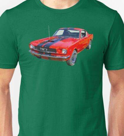 Red 1966 Ford Mustang Fastback Unisex T-Shirt