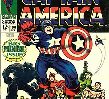 Captain America Comic Cover by PuzzlePieces