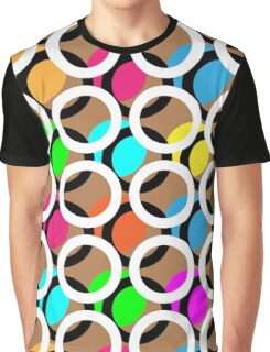 Ring and color abstract background pattern.  Graphic T-Shirt