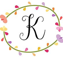 Beautiful Intials ~ K by mezzilicious