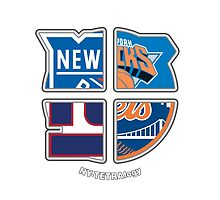 New York Pro Sports TETRAlogy! Mets, Giants, Rangers and Knicks by Sochi