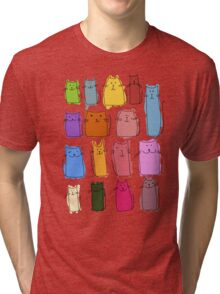 Cute cats, childish style. Tri-blend T-Shirt