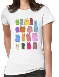 Cute cats, childish style. Womens Fitted T-Shirt