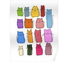 Cute cats, childish style. Poster