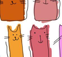 Cute cats, childish style. Sticker