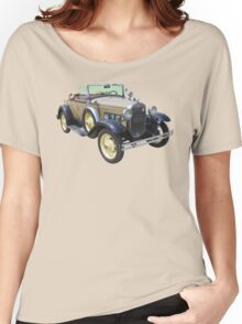 1931 Ford Model A Cabriolet Antique Car Women's Relaxed Fit T-Shirt