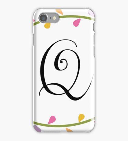 Beautiful Intials ~ Q iPhone Case/Skin