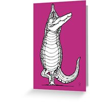 Yogi Crocodile Tree pose Greeting Card