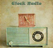 retro clock radio by Michelle Anderson