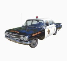 1960 Chevrolet Biscayne Police Car One Piece - Short Sleeve