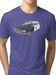 1960 Chevrolet Biscayne Police Car Tri-blend T-Shirt