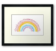 Rainbow baby Framed Print