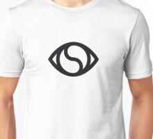 Yin-Yang Eye (black on white) Unisex T-Shirt