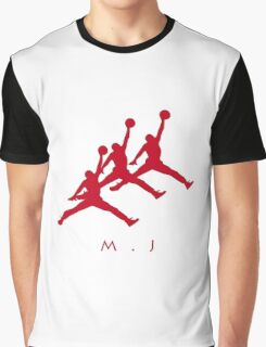 Michael Jordan In Air Graphic T-Shirt