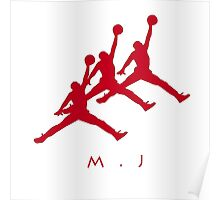 Michael Jordan In Air Poster