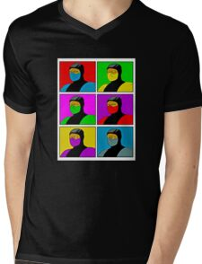 warhol kombat Mens V-Neck T-Shirt