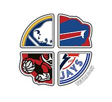 Toronto Ontario & Buffalo Pro Sports TETRAlogy! Toronto Blue Jays, Toronto Raptors, Buffalo Bills and Buffalo Sabres by Sochi