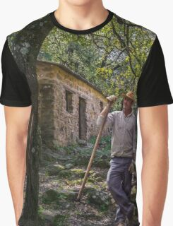 A gardeners brief rest from his labours Graphic T-Shirt