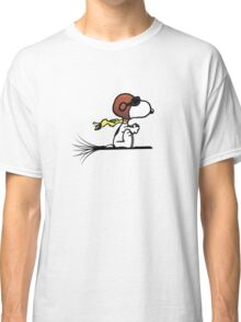 Snoopy riding a broom Classic T-Shirt