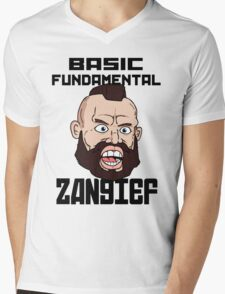 Basic fundamental Zangief  Mens V-Neck T-Shirt