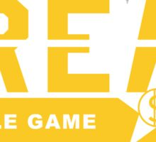 C.R.E.A.M. Hustle Game Gold Sticker