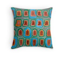 Special Places in a Row Throw Pillow