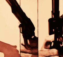 Clint has a gun Sticker