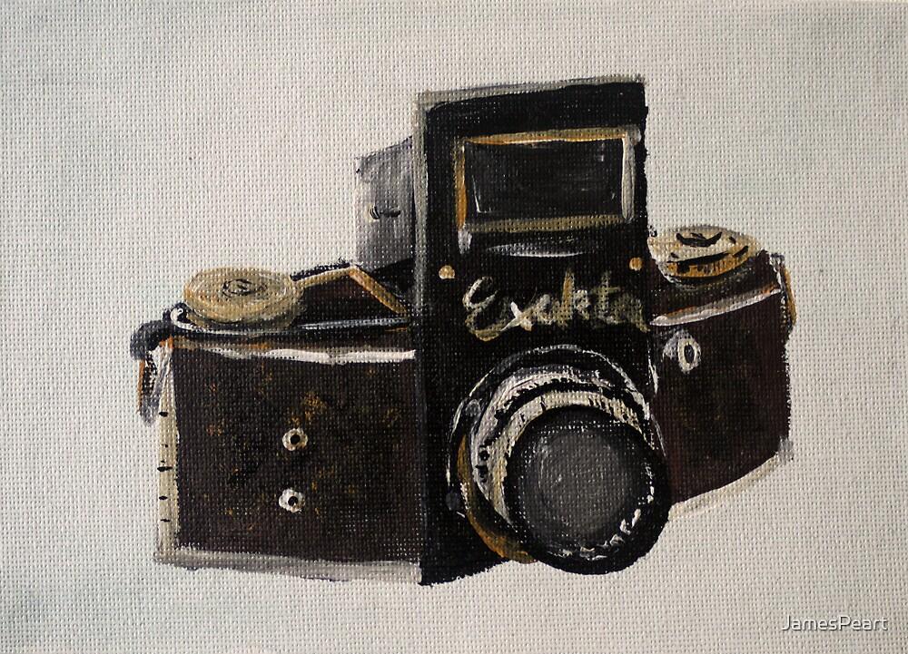 Exakta Vintage Film Photography Camera Contemporary Acrylic Painting  by JamesPeart
