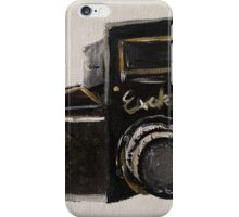 Exakta Vintage Film Photography Camera Contemporary Acrylic Painting  iPhone Case/Skin