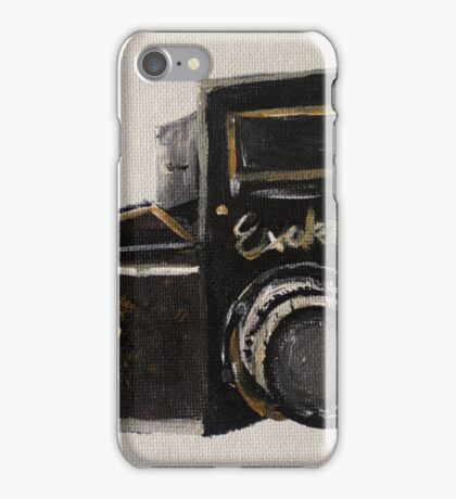 Exakta Vintage Film Photography Camera Contemporary Acrylic Painting  iPhone Case/Skin