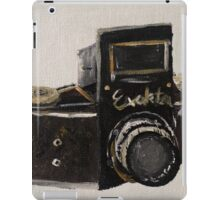 Exakta Vintage Film Photography Camera Contemporary Acrylic Painting  iPad Case/Skin