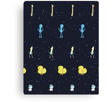 Rick and Morty characters Canvas Print