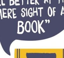 Feel Better at the Mere Sight of a Book Sticker