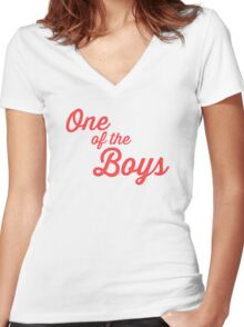 One of the Boys Women's Fitted V-Neck T-Shirt