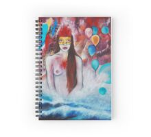 Girl in Bath. The Fragile Spark in Permanent Darkness Spiral Notebook
