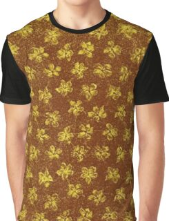Vintage Floral Yellow and Brown Graphic T-Shirt