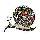 Art snail, ornate zentangle style by Kudryashka