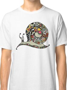 Art snail, ornate zentangle style Classic T-Shirt