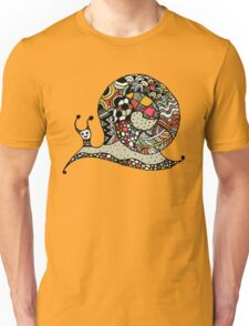 Art snail, ornate zentangle style Unisex T-Shirt